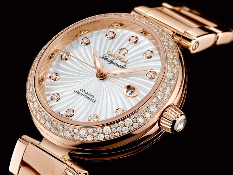 Swiss Luxury Ladies Replica Watch Omega Ladymatic Rose Gold Watch