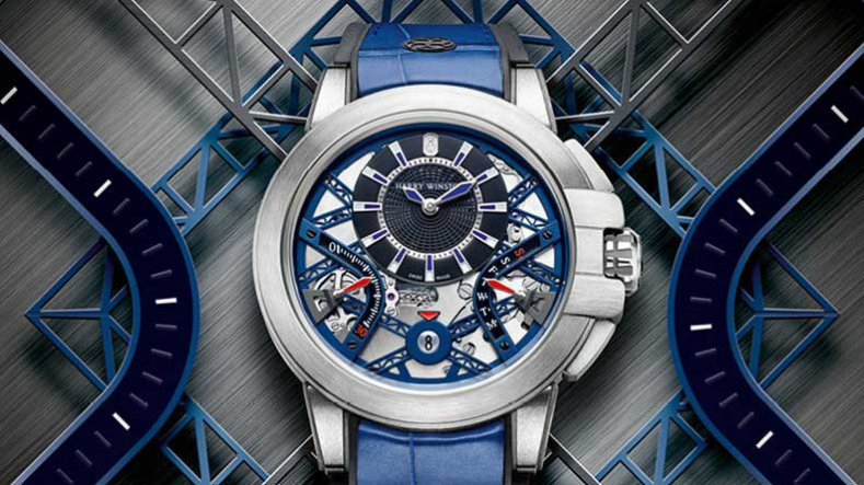 The Exclusive Harry Winston Project Z10 Blue Skeleton Dial Replica Watch