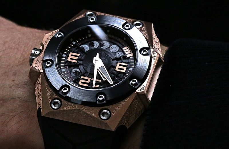 Swiss Mens Linde Werdelin Oktopus Moon Tattoo Replica Limited Edition