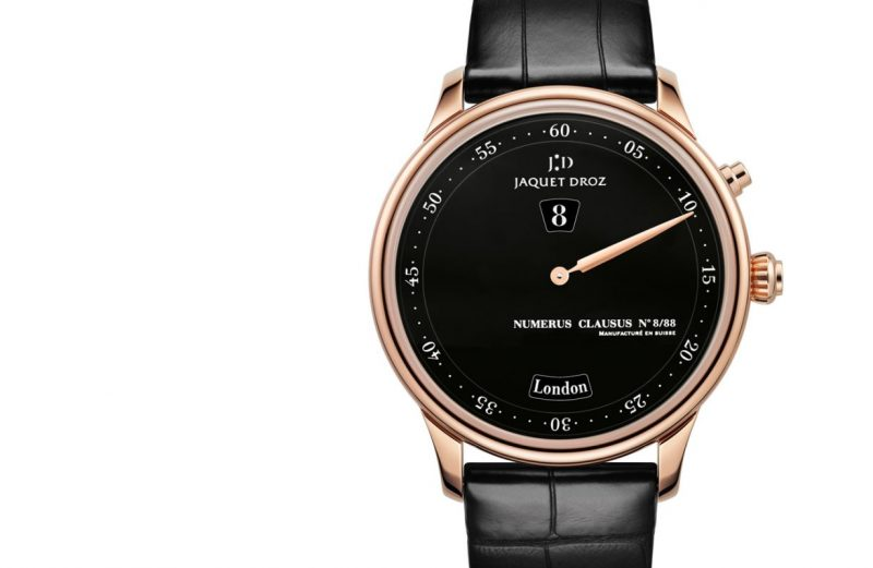 elegant rose gold fake Jaquet Droz Les Douze Villes watch replica