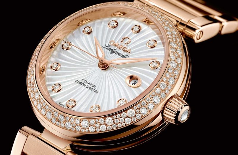 Swiss Luxury Ladies' Replica Watch - Omega Ladymatic Rose Gold Watch