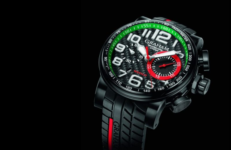 Up Close With Swiss Graham Silverstone Stowe Racing Mexico 100 Automatic Chronograph Watch